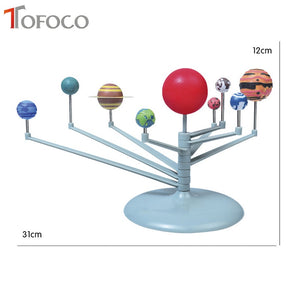 TOFOCO 21cm DIY 3D Simulation Model Solar System Nine Planets Toy Scale Plastic Explore Geography Universe Educational Toys Gift
