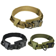 Tactical Dog Collar Nylon Adjustable Military Dog Collars with Control Handle Training Pet Cat Dog Collar For Medium Large Dogs