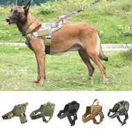 Tactical Dog Harness Military Patrol K9 Working Dog Collar Harness Service Dog Vest With Handle For Training Hiking Outdoor