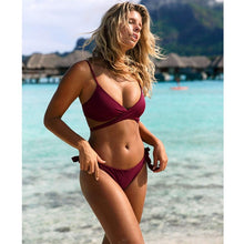 TeLaura 2019 Sexy Cross Brazilian Bikinis Women Swimwear Swimsuit Push Up Bikini Set Halter Top Beach Wear Bathing Suits Biquini