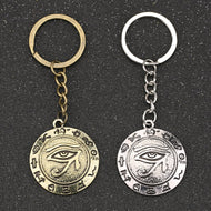 The Eye Of Horus Keychain Wedjat Eye Amulet Ancient Egyptian Religion Symbol Vintage Retro Keyring Key Chain Ring Wholesale