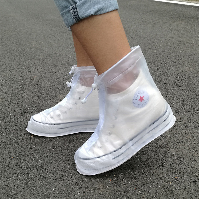 Thickening Reusable Waterproof Overshoes Shoe Covers Shoe Protector Anti-slip Rain Boot Men&Women's&Children Shoes Accessories