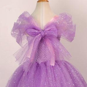 Tulle Girls Cosplay Rapunzel Princess Dress Costume Children Masquerade Ball Gowns For Kids Halloween Birthday Party Tutu Dress