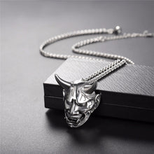 U7 Necklace Gothic Horn Evil Devil Demon Stainless Steel Pendant & Chain Gold/Black Color Christmas Gift Jewelry Necklaces P1142 - ShopeeShipee