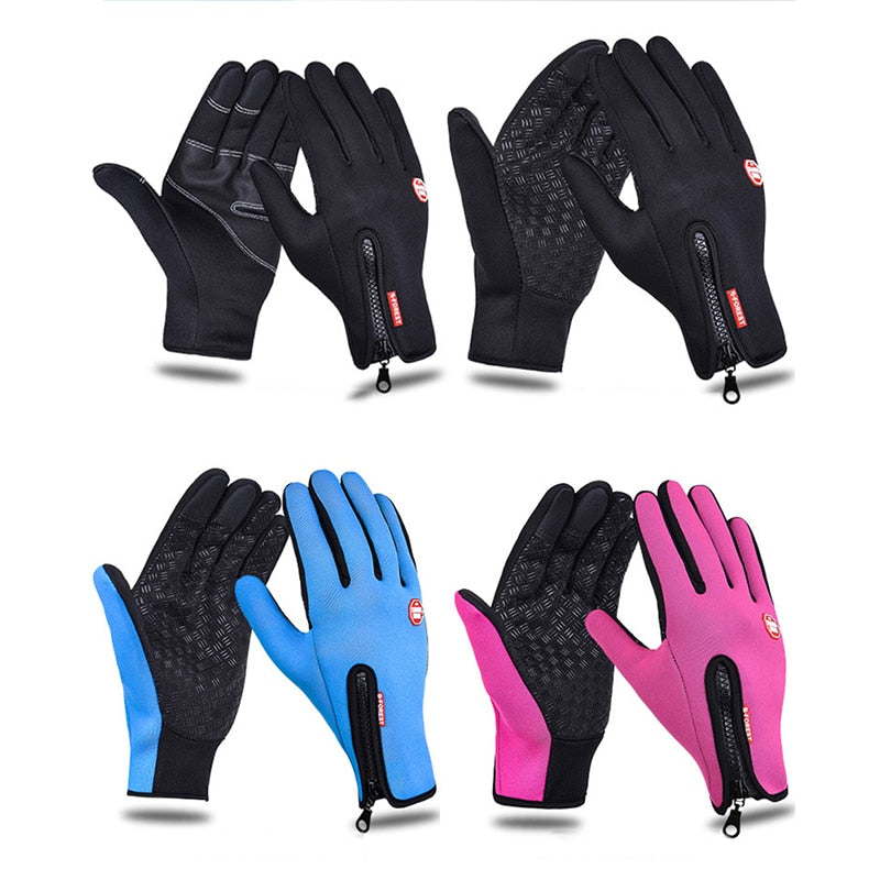 Touchscreen Outdoor Skiing Cycling Camping Hiking Non-slip Full Finger Gloves XL
