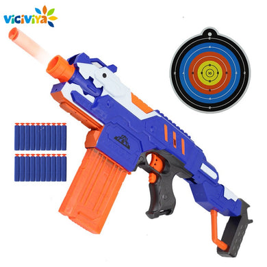 Toy Gun with Soft Bullets Suit for Nerf Toys Gun Dart Perfect Suit for Nerf Gun Christmas Gift with Clips and Shooting