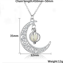 Glowing Crescent Moon Necklace - ShopeeShipee