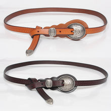 Vintage Metal Buckle Head Waist Belt Womens Medeival Larp Viking Costume Accesory Fashon Thin Waistband Straps Curved For Lady
