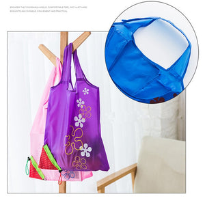 Vogvigo Polyester Shopping Bag Storage Bag Handbag Strawberry Foldable Shopping Bags Reusable Folding Grocery Nylon Eco Tote Bag - ShopeeShipee