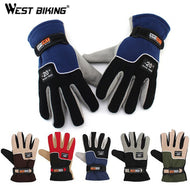 WEST BIKING Winter Warm Full Finger Sport Guantes Motorcycle Racing Luvas Thermal Bicycle Bike Cycling Gloves For Women Men