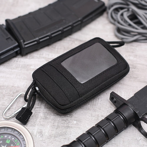 Waterproof EDC Pouch Portable Tactical Key Change Purse Wallet Mini Purse Card Slots Zippers outdoor tools - ShopeeShipee