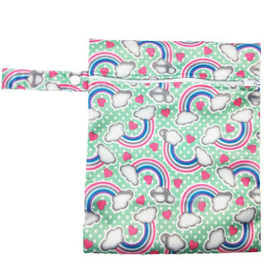 Waterproof Reusable Wet Bag Printed Pocket Nappy Bags PUL Travel Wet Dry Bags Mini Size 25x20cm Diaper Bag