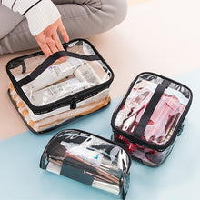 Waterproof Transparent PVC Bath Cosmetic Bag Women Make Up Case Travel Zipper Makeup Beauty Wash Organizer Toiletry Storage Kit