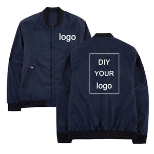 Windbreaker Customized logo print jacket mens jackets hip hop streetwear jacket and coats Stand Collar Men clothes - ShopeeShipee