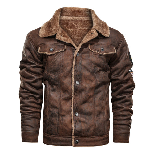 Winter Warm Army Tactical Jackets Men Pilot Bomber Flight Military Jacket Male Casual Thick Fleece Cotton Wool Liner Coat Suede - ShopeeShipee
