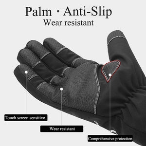 Winter Waterproof Gloves Touch Screen Anti-Slip Zipper Gloves Men Women Riding Skiing Warm Fluff Comfortable Gloves Thickening - ShopeeShipee