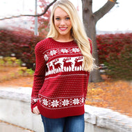 Christmas Snowflake Winter Womens Ladies Warm Brief Sweaters