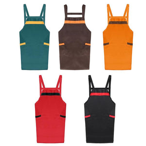 Women Men Kitchen Cooking Apron with Pockets Chef Waiter Home Baking Dress keep clean