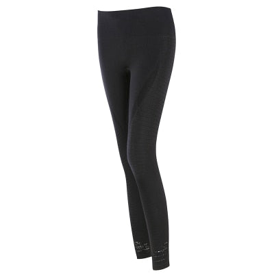 Women's Butt Lift Sport Leggings Hollow Out Fitness Gym Leggings Seamless Slim Compression Squat Tights High Waist Yoga Pants