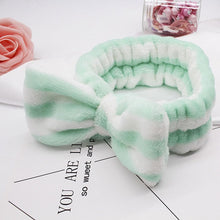 Women's Butterfly Bow Hair Band Fashion OMG Letters Wash Face Headband Girls Headwear Hairbands Coral Fleece Hair Accessories