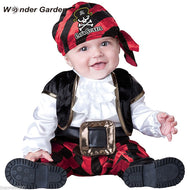 Infant Toddler Baby Boys Viking Pirate with hood Belt Halloween Cosplay Outfit