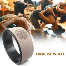 Wood Color Yoga Wheel Pilates with Buddha Lotus Professional TPE Yoga Circles Gym Workout Back Training Tool For Fitness