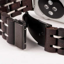 Wood Watchband Stainless Steel i Watch Band 42mm 38mm Wrist Bracelet Strap Replacement Band