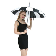 Yesello 1PCS Black And White Women Big Large long Handle Gothic Classical Windproof Tower Pagoda Rain Umbrella