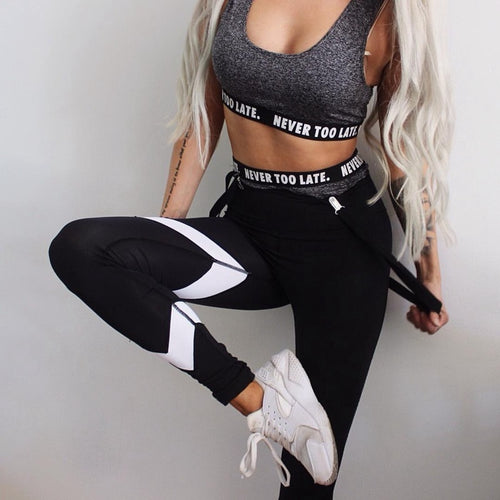 Yoga Pants Women Compression Leggins Exercise Gym Tights Fitness Running Leggings Striped Slim Gym Pants Hip Push Up Trousers - ShopeeShipee