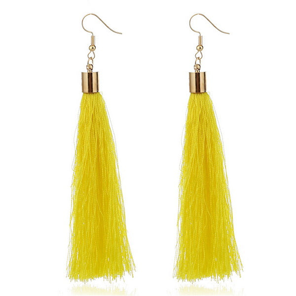 ZHINI Fashion Ethnic Style Multicolor Tassel Earrings Women Jewelry Statement Drop Dangle Earrings Female Wedding Bijoux Brincos