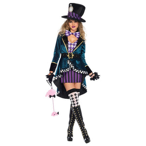 alice in wonderland johnny depp mad hatter costume adult Outfit Fancy Dress Fantasias halloween costumes for women plus size - ShopeeShipee