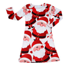 christmas dress Kids Baby Red Santa Claus Xmas Long Sleeve Swing Party Dress kids dresses princess for autumn girl dresses