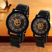 high-quality 2018 new lover's watch fashion gift table men women Watches black Metal strap Gear dial quartz wristwatches cool