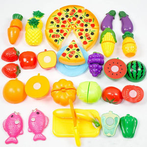 24 Pieces /Set Plastic Kitchen Toys Food Fruit Vegetable Cutting Kids Pretend Play Educational Toy Cook Cosplay  | Shopee Shipee Yipee