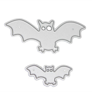 2Pcs Bat Cutting Dies Halloween Metal Cutting Dies for Scrapbooking Album Die Cuts Embossing Paper Card Craft Dies