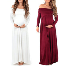 Maternity dress Women Cowl Neck Pregnants  Photography Props Off Shoulders Nursing Dress drop shipping  | Shopee Shipee Yipee - ShopeeShipee