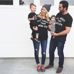 Family match clothes T-shirt Toddler Infant Kids Baby Boy Letter T shirt Tops Family Clothes Outfits Clothes drop shipping - ShopeeShipee