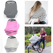 Baby Car Seat Cover Canopy Nursing Cover Multi-Use Stretchy Infinity Scarf Breastfeeding Shopping Cart Cover High Chair Cover - ShopeeShipee