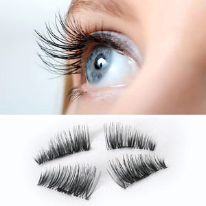 NEW Ultra-thin 0.2mm Magnetic Eye Lashes 3D Fiber Reusable False Magnet Eyelashes Extension Extension Drop shipping  | Shopee Shipee Yipee