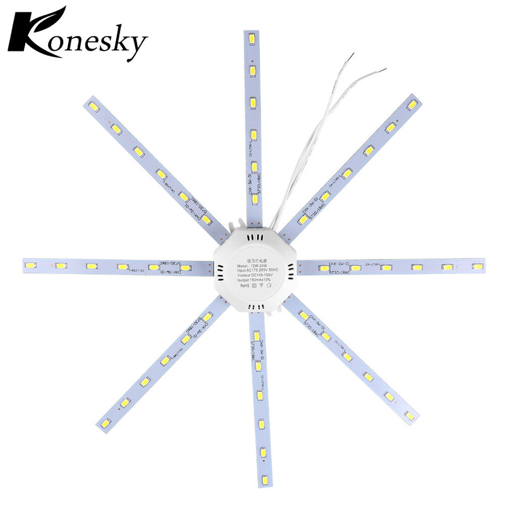 12W 16W 20W 24W LED Ceiling Lamp 5730SMD Modified Light Source Lamp Plate Octopus Cool /Warm White for Round Kitchen Bedroom