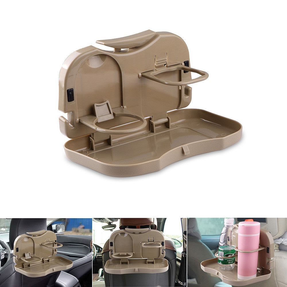 Car Seat Drink Holder Cup Holder with Foldable Shelf for Coffee Beverage Bottle