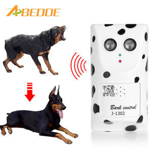 ABEDOE Humanely Ultrasonic Anti Bark Device Stop Barking Machine Control Dog Barking Silencer Hanger EU USA UK Plug | Shopee Shipee Yipee