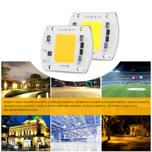 High Power 50W COB LED Chip 3000K Warm White Free Drive Smart IC with Driver Supply for DIY Spotlight Floodlight  | Shopee Shipee Yipee