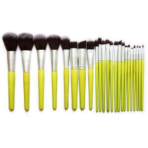 23pcs Bamboo Cosmetic Makeup Brushes Set with Pouch - ShopeeShipee