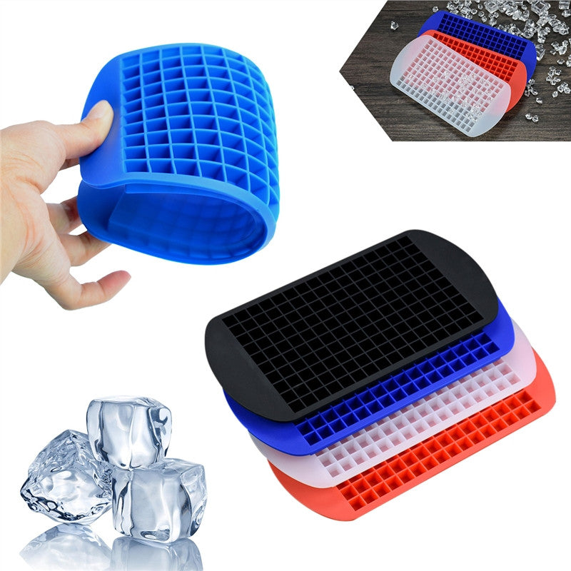 160 Ice Cubes Frozen Mini Cube Silicone Ice Mold Mould Tray Kitchen Tool | Shopee Shipee Yipee - ShopeeShipee