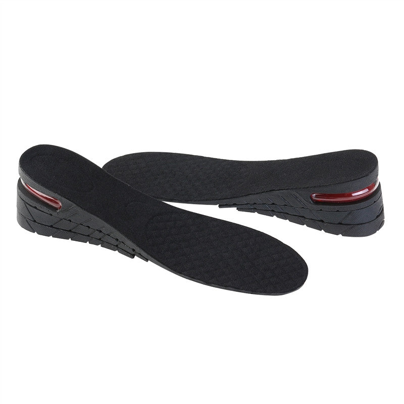 Pair of Unisex 3-layer 6CM PU Air Cushion Increase Height Insole Taller Pad