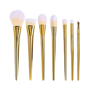7pcs Professional Makeup Brushes Powder Applicator Kit for Foundation Blush Contour Eyeshadow Makeup  | Shopee Shipee Yipee