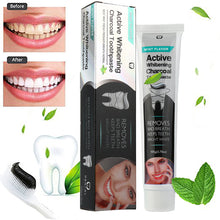 Activated Charcoal Teeth Whitening Toothpaste Natural Black Mint Flavor Herbal