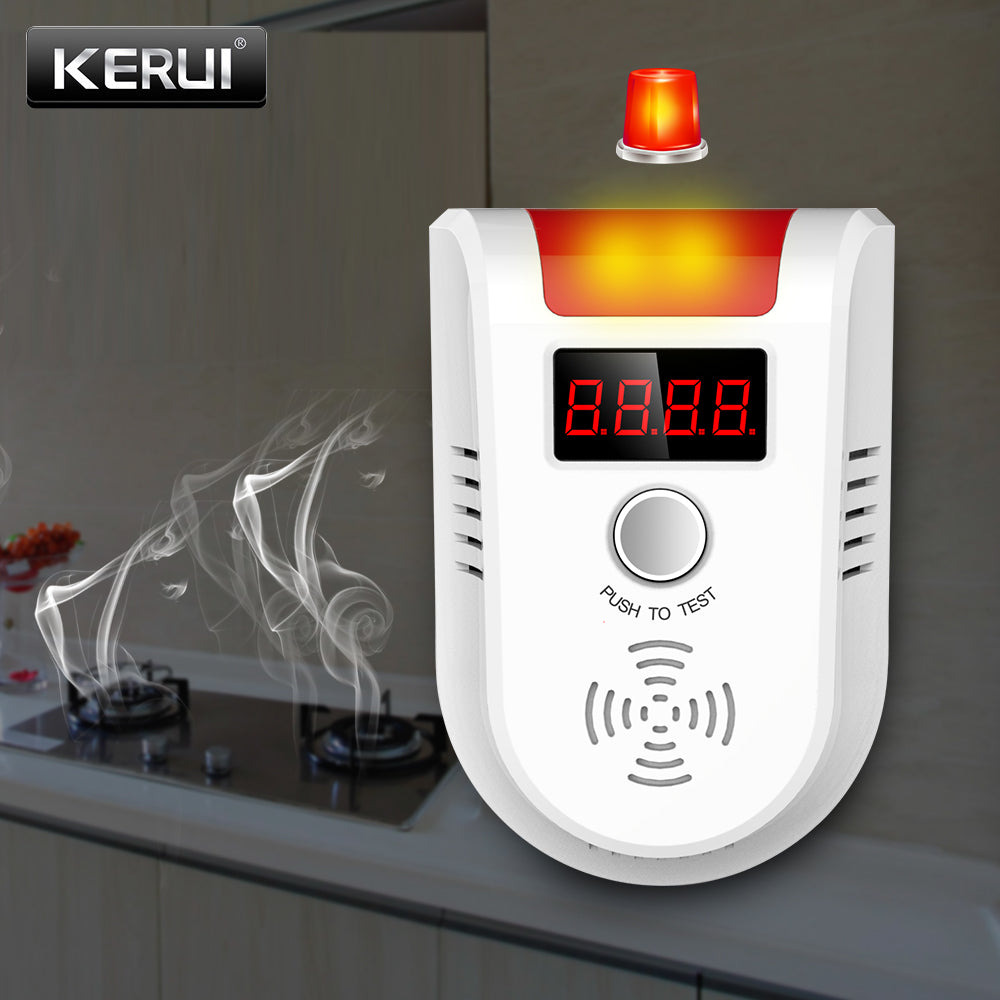 KERUI GD13 LPG GAS Detector Wireless Digital LED Display Combustible Gas Detector For Home Alarm System | Shopee Shipee Yipee