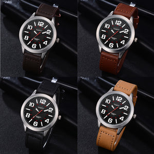 Fashion Business men's Watch 2018 Male Pattern Quartz Watch Leather Strap Belt Table Watches  | Shopee Shipee Yipee